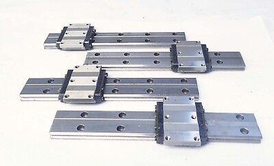 Lot Of 4 Thk Hr-w17 Lm Guide Rail Bearings Linear Rail 8.25