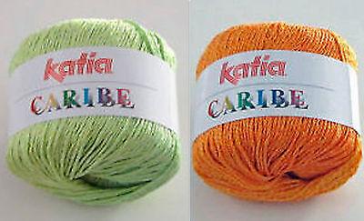 Katia Caribe Spring Summer Cotton Blend Yarn Loom Knit Crochet Free Ship Offer Green Spring Knitting Yarn