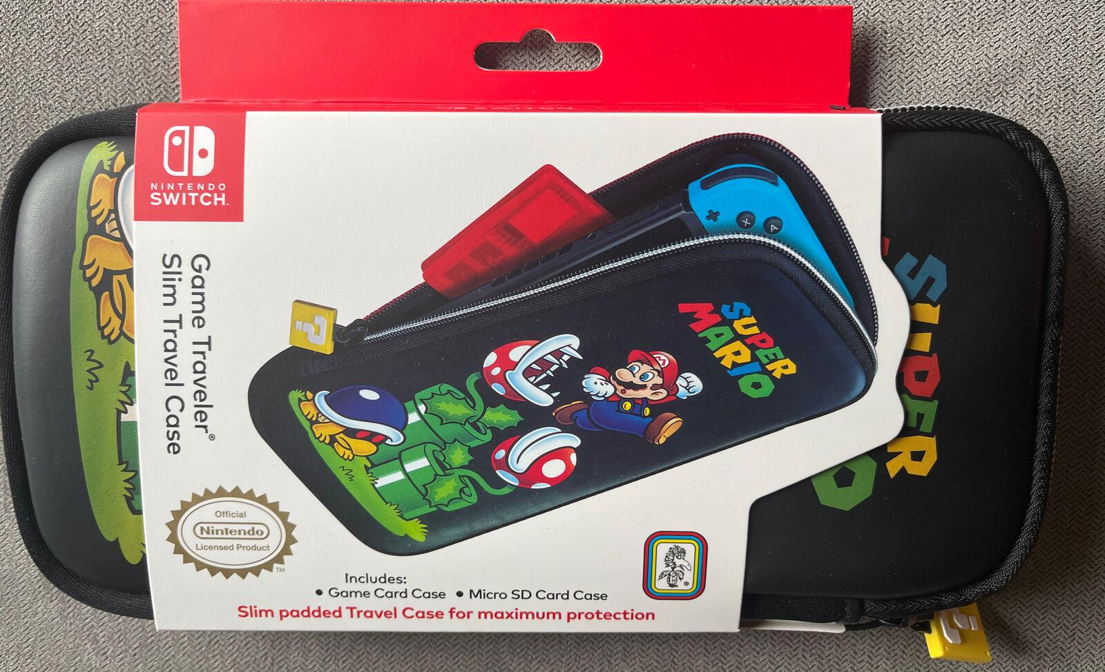 NEW Super Mario Game Traveler Slim Travel Case For Nintendo Switch RDS Indust  - $16.99