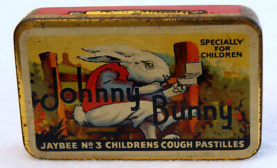 Vintage 'Johnny Bunny' Tin for Children's JAYBEE NO 3 Cough Pastilles