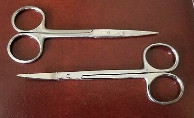 2 Iris Eye Scissors 4 - Str Cvd Surgical Dental