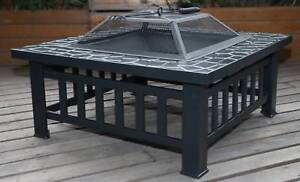 18 Square Metal Fire Pit Outdoor Heater
