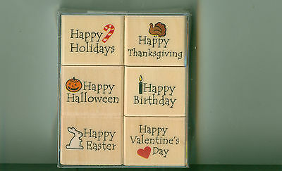Halloween Birthday Greetings (HERO ARTS rubber stamp set DAYS TO CELEBRATE Greetings Easter Birthday)