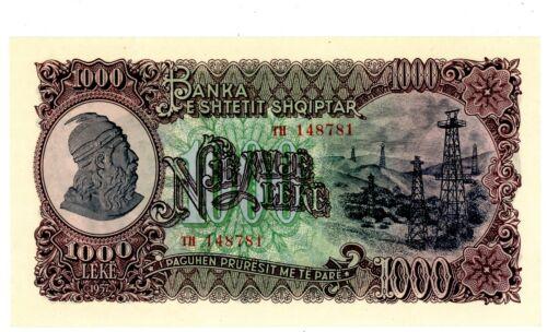 Albania ... P-32 ... 1000 Leke ... 1957 ... Choice *UNC*