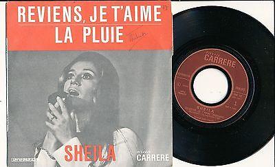 """SHEILA 45 TOURS 7"""" FRANCE REVIENS JE T'AIME (LABEL PLASTIFIE)"""
