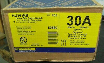Square D Hu361rb Heavy Duty Safety Switch 30a 600v 5060hz