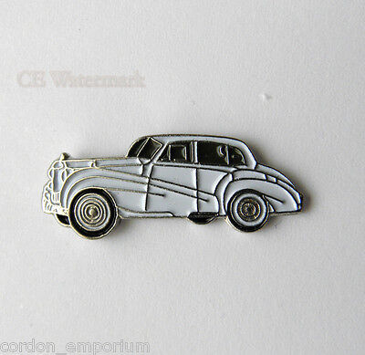ROLLS ROYCE WHITE CAR AUTOMOBILE CAR LOGO LAPEL PIN BADGE 1 INCH