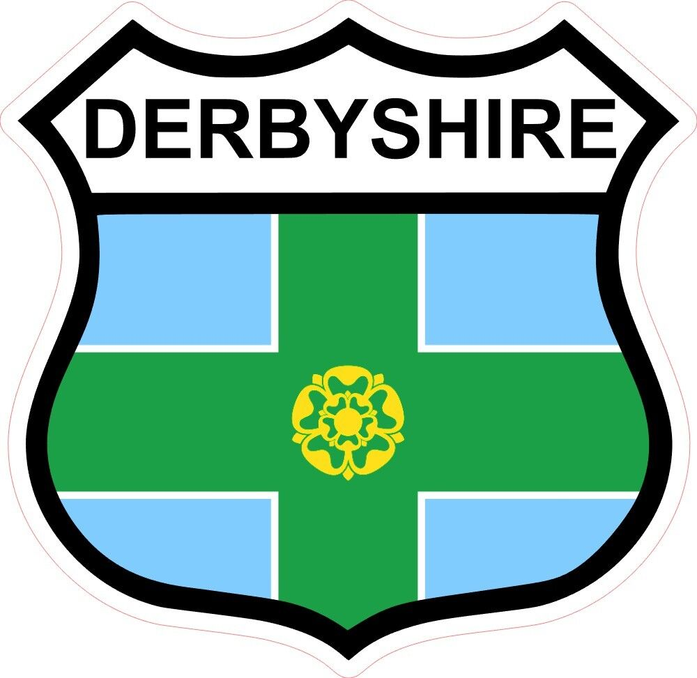 Car Grille Badge Derbyshire County Flag FREE FIXINGS