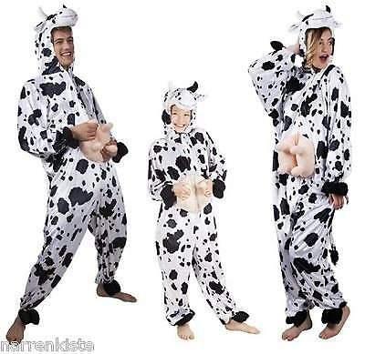 Kuhoverall Kuh Kühe Kostüm Overall Plüsch Milch Kuhkostüm Tier Kleid Hose - Milch Kostüm