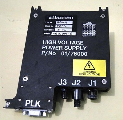 Albacom Pn 0176000 High Voltage Power Supply Sn P056 Type Hv004 Date C 0914