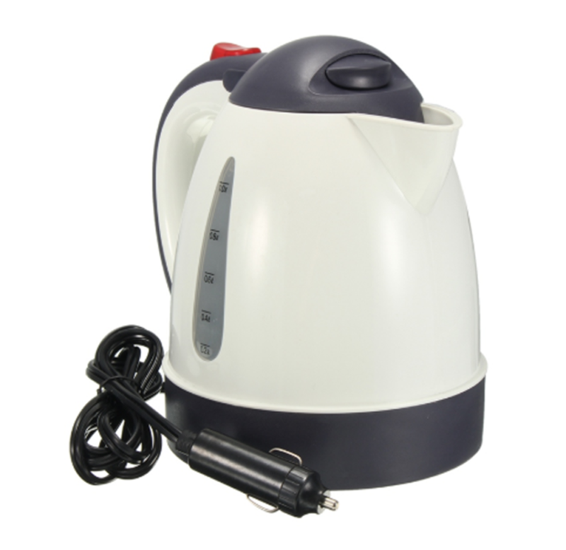 12V 1L Electric Car Boiling Kettle Stainless Coffee Tea Wate