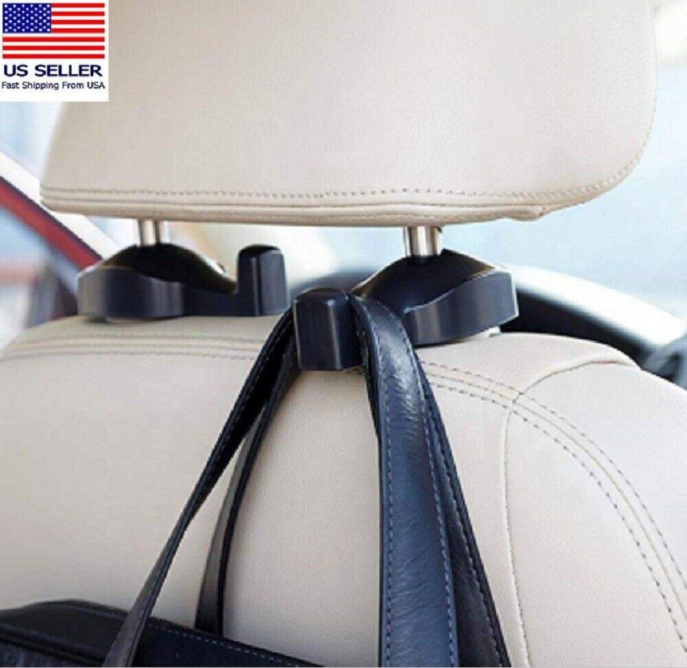 2 Pcs Car Seat Headrest Hook Backseat Purse Hanger Bag Cloth Hanging Holder US Car & Truck Parts