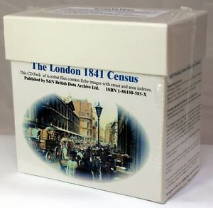 London 1841 Census LICENCED CD SET S&N Direct