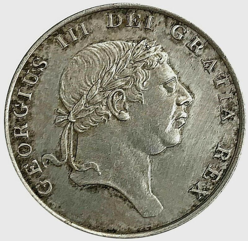 1816 SILVER GREAT BRITAIN 1 SHILLING 6 PENCE KING GEORGE III COIN