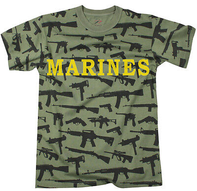 Marine corps shirt marines t-shirt ak-47 vintage soft tee AR-15 guns camo usmc