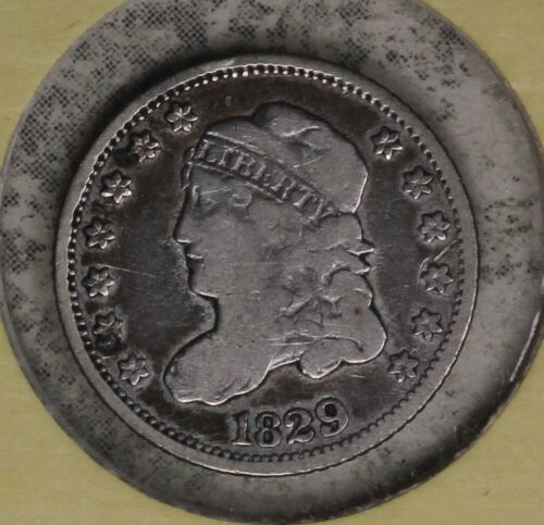 Nice 1829 Capped Bust Half Dime -Solid Very Good Condition Coin