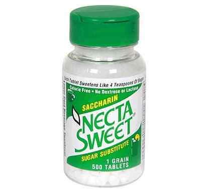 Necta Sweet Saccharin Sugar Substitute 1.0 grain Tablets 500 ea