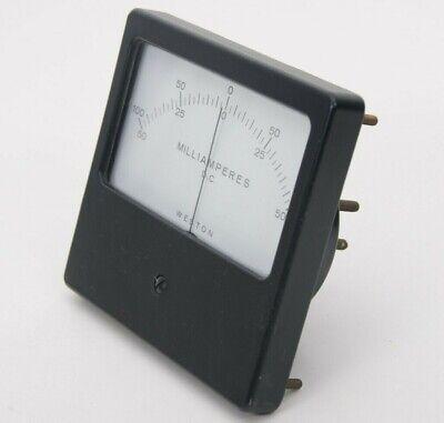 Vintage Weston Dc Milliamperes Panel Meter Gauge 100-0-10050-0-50 Model 1941