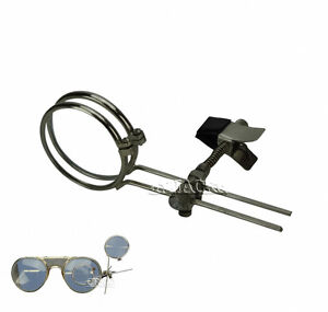 CLIP-ON-TO-GLASSES-2-LENS-EYE-LOUPE-MAGNIFIER-MAGNIFYING-GLASS-STEAMPUNK-JEWELER