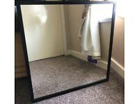 IKEA STAVE square mirror, dark brown oak effect, good condition