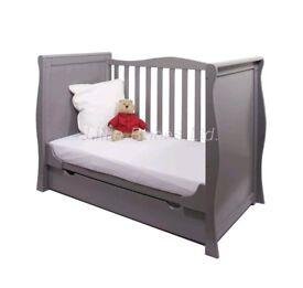 Grey gloss cot/bed