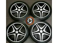 """18"""" Genuine AMG CLA Mercedes alloys, excellent condition, excellent matching Goodyear tyres."""