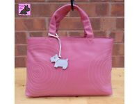 RADLEY - Medium Pink Leather '2004 Collectable' Tote Bag *Pristine Condition*