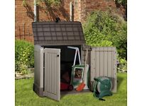 **Keter Store It Out Midi Outdoor Plastic Garden Storage Shed. Fully built and ready for delivery**