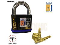 Federal FD730 Hasp & Staple Heavy Duty Padlock Garage Shed Tool Box Chain Commercial