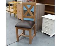 Solid Wood High Back Dining Chair X / RRP £130