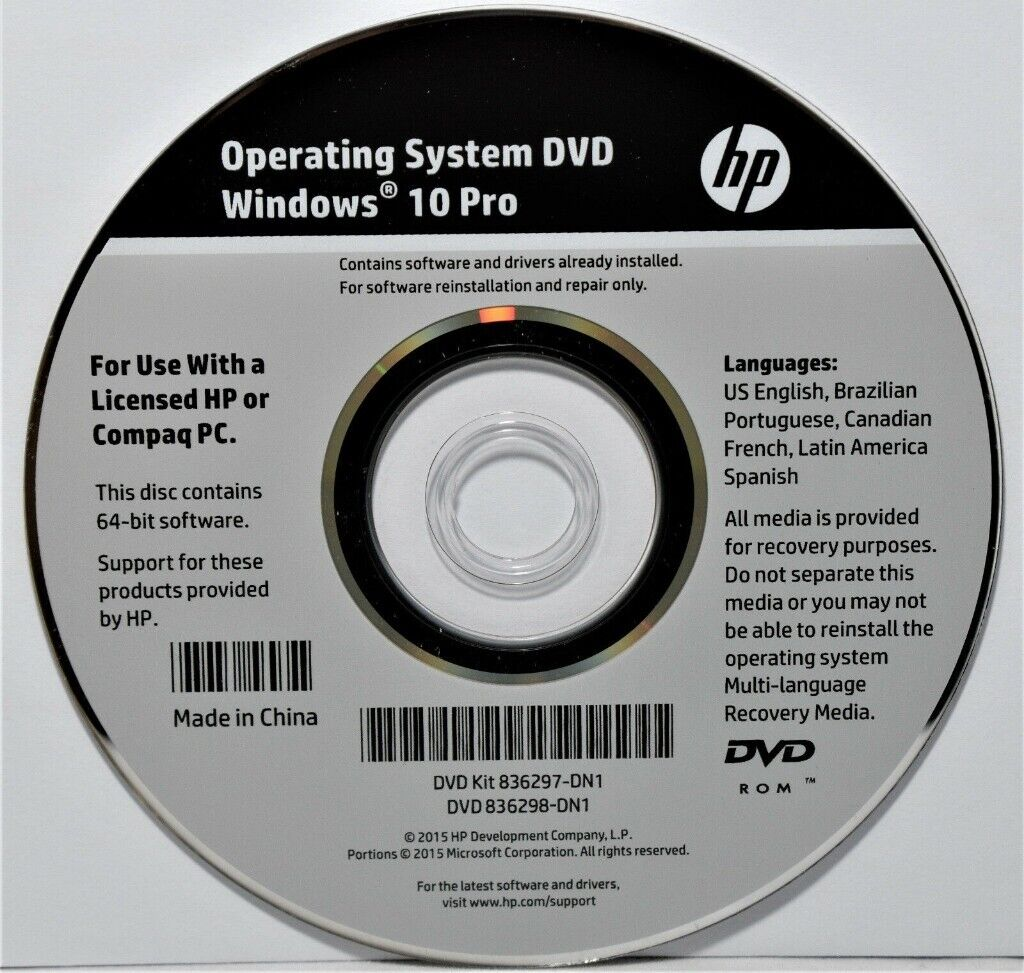 Windows 10 Professional installation DVD (64 bit)Genuine sealed  HP/DELL/LENOVO | in Leytonstone, London | Gumtree