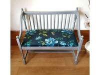 Beautuful Floral Midnight Double Bench / Seat - Free Delivery