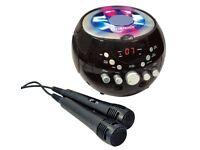 Boombox Karaoke Machine with Bluetooth & Flashing Lights