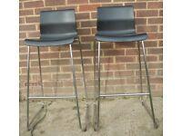 2 Metal Bar Stools - Breakfast - Kitchen - Pub - High Chairs - Stools all Metal