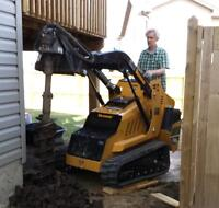 Deck / Fence Post Holes $10.00, Small Tracked Machine