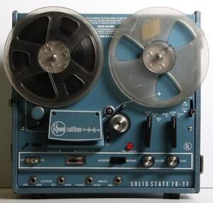 Magnétophone à Bandes - Vintage Reel To Reel Rheem Califone Solid State Model 70-TF (a042941)