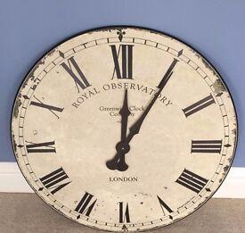 Lascelles Greenwich Clock - Cream, XL 70cm