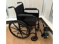 Brand New Black Foldable Lightweight Sports Wheelchair 45cm (18inch) Self Propel