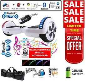 SEGWAY - Self Balancing Board - 2 Wheels Balance Scooter - Bluetooth + LED + Remote Key - UK Stock