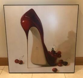 Framed Shoe Picture
