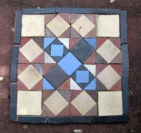 Antique Victorian floor tiles -home or garden . 1st of 2 lots