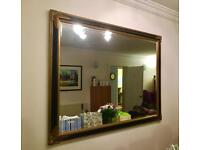 Black and Gold antique style wood framed mirror