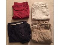 4 pairs of men's shorts. All worn once. Hollister, Abercrombie & Fitch, Firetrap, Timezone