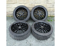 """18"""" alloy wheels tyres 5x108 Ford Focus Mondeo B Max Transit Connect Volvo C30"""