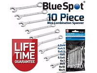 NEW - Mini Spanners 10pc Model Makers Mini Small Combination Wrench Set 4m-11mm