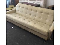 One real leather three seat sofa for free taken