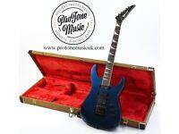 Charvel Model 6 Japanese Metallic Blue & Charvel Tweed Hard Case