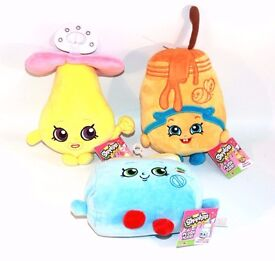 """✨ 3x SHOPKINS SOFT TOYS PLUSH DUMMY TOASTER HONEEEY 9"""" ~ KIDS BABYS TODDLERS TV SHOW GAMES ✨"""