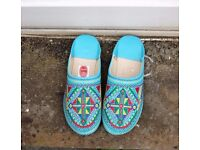 Moroccan Embroidered Slippers Size 7