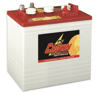 FREE SHIPPING!!!! 6 CROWN CR235 golf cart battery rv solar deep cycle (Crown Deep Cycle Battery)
